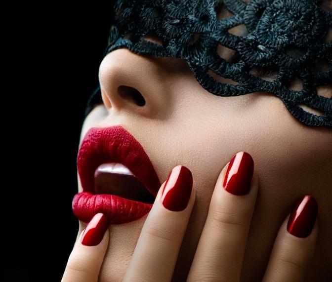 Fingernägel rote lange Rote Nägel