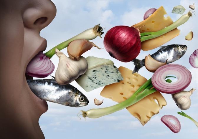 Knoblauch, Zwiebel, Fisch verursachen Mundgeruch