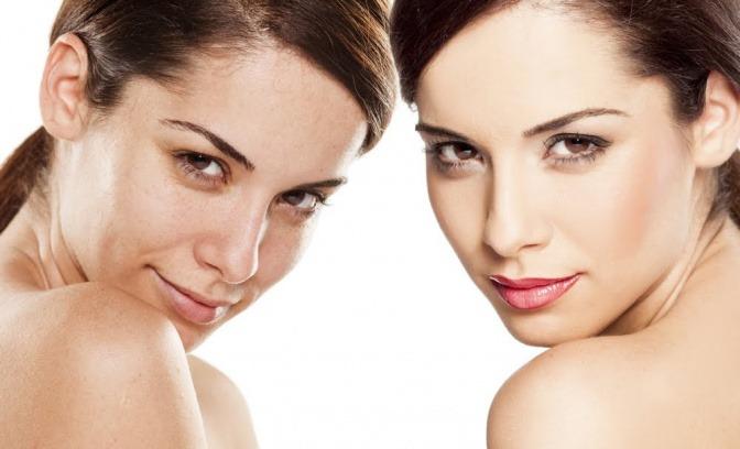 Eine Frau sieht dank Make-up viel frischer und wacher aus