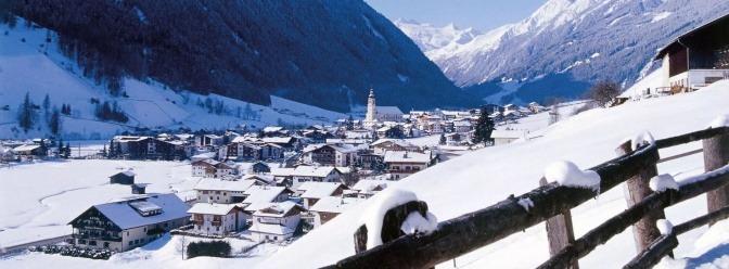 Stubaital in Tirol im Winter