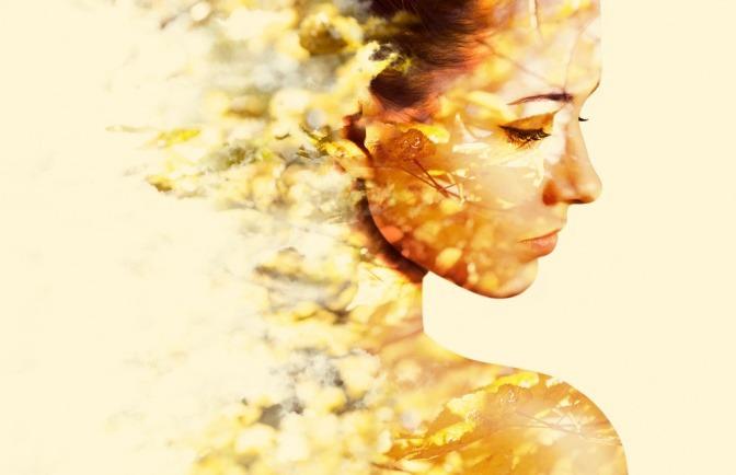 Ein Gesicht zeigt die Umweltverschmutzung der Haut