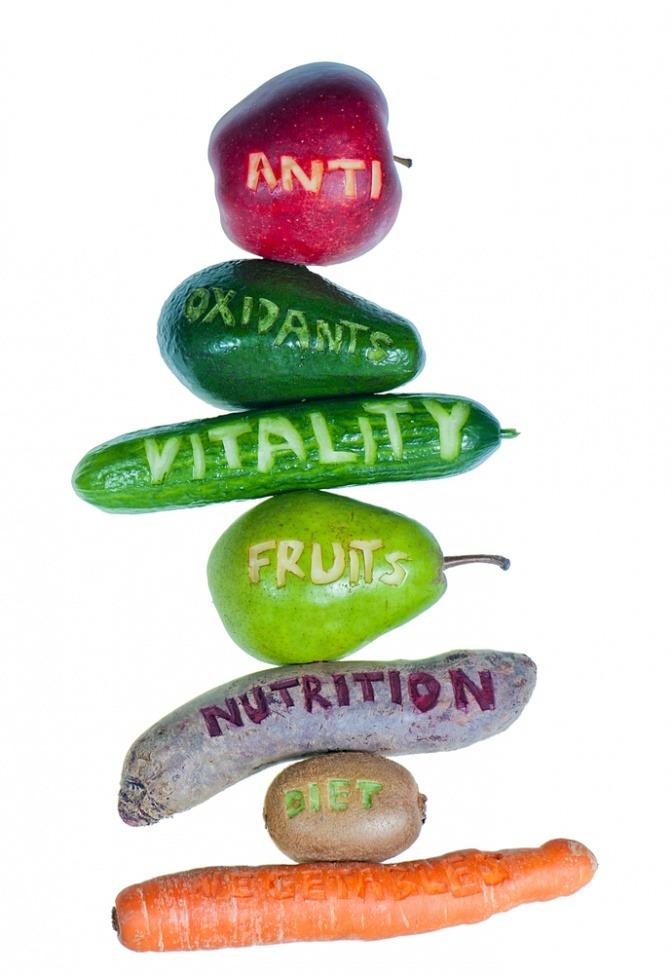 Vegane Lebensmittel enthalten viele Vitamine