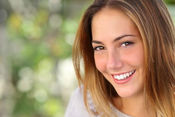 Frauengesicht mit schönem Hautbild