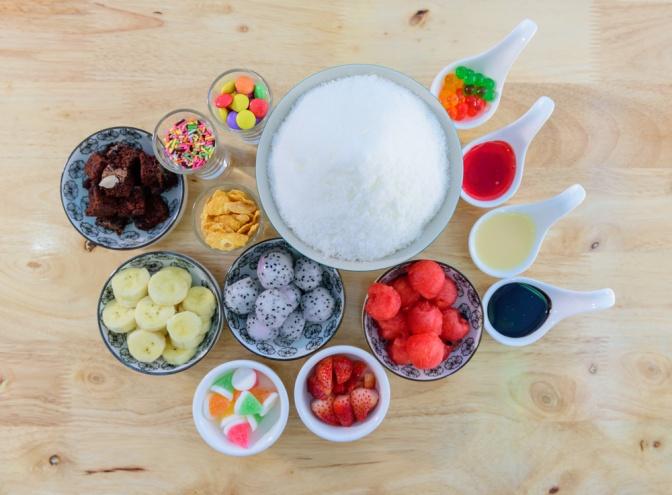 verschiedene Süßigkeiten
