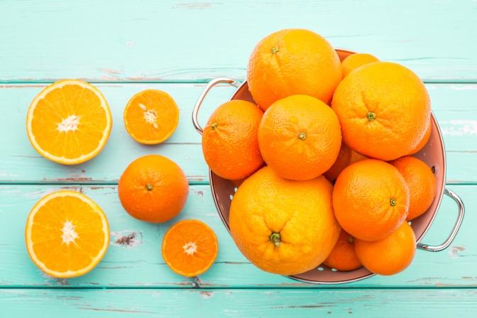Orangen und Mandarinen