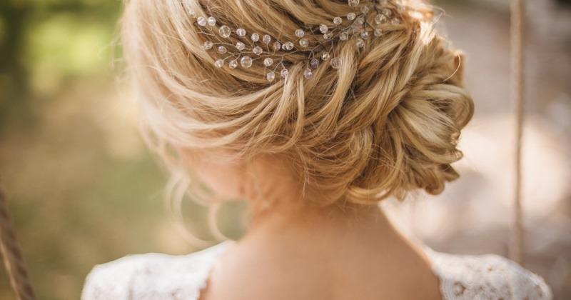 Brautfrisur hochgesteckt geflochten
