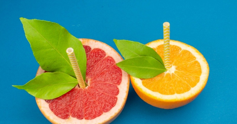 Grapefruits zum Trinken und Abnehmen