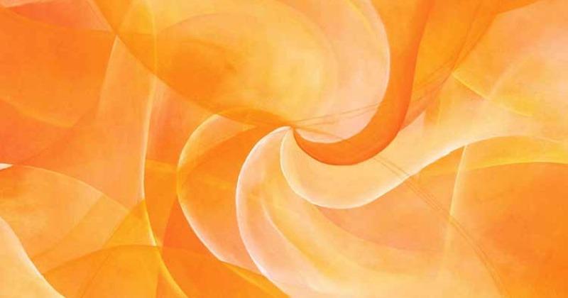 Ein Bild von Stefanie Menzel zeigt einen orangen Lichtwirbel
