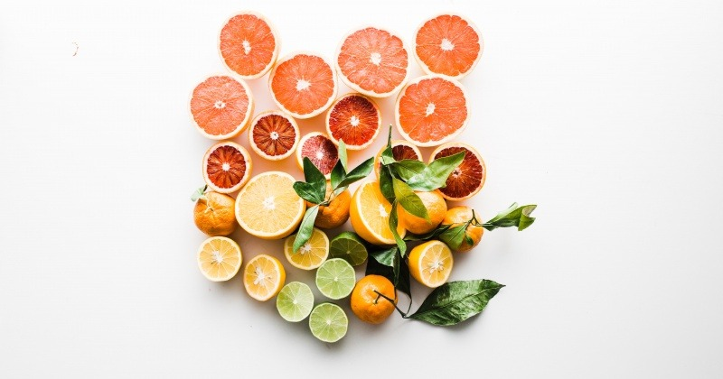 Zitrusfrüchte für Lichtschutz der Haut