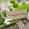 Ein Schild hat die Aufschrift Ayurveda