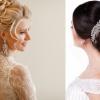 Eine brünette und blonde Frau mit lockigen Brautfrisuren