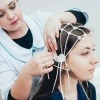 EEG Messung an einer Frau