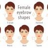 Gesichtsformen mit verschiedenen Augenbrauen
