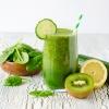 Grüner Smoothie und grünes Obst