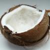 Kokosfett aus der Nuss ausgelöst