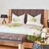 Schlafzimmer dekoriert in Pastelltönen