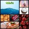 Auf einer Bildcollage sieht man vegane Ernährung