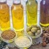 Verschiedene Pflanzenöle in der Kosmetik