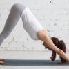 Yoga Übung Hund (Adho Mukha Svanasana)