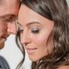 Eine Braut hat ein schönes Augen-Make-up